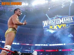 Hé hé je vais à WrestleMania, même que je vais inaugurer le concept du vainqueur de la bataille royale qui fait l'opener.