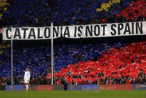 Banderole Catalonia is not Spain