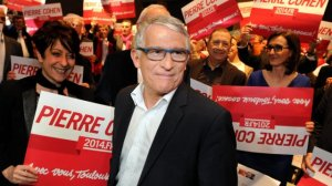 Municipales 2014 Cohen devant foule