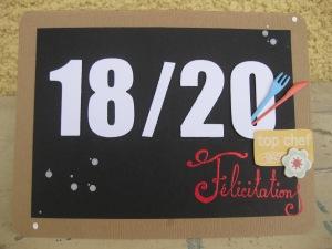 TFC Bilan 2013-2014 Ardoise 18 sur 20