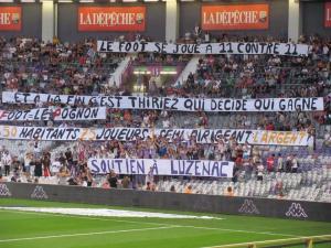 TFC-Caen 20-09-2014 Banderoles pro-Luzenac