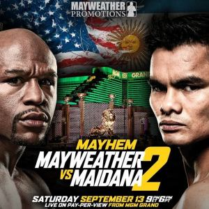 WOFW#1 Affiche Mayweather vs Maidana 2