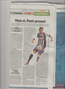 TFC ASSE-TFC 05-10-2014 Pesic Lequipe