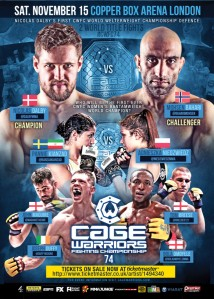 15112014 Review Affiche Cage Warriors 74