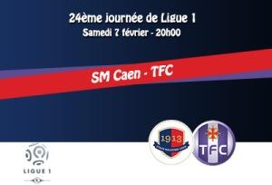 TFC Caen-TFC 07-02-2015 Affiche