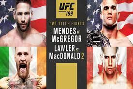 UFC 189 Affiche