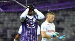 Dodi Lukebakio après son tir trop croisé contre Nantes. Déjà du Braithwaite en lui.